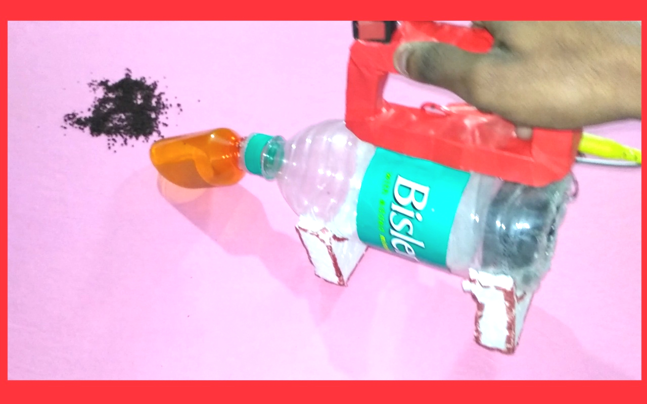 How to make a vacuum cleaner using water bottle at Home